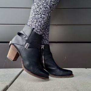wishbone leather booties
